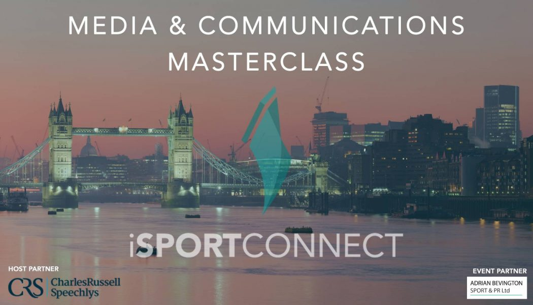 iSportconnect announces Media & Communications Masterclass