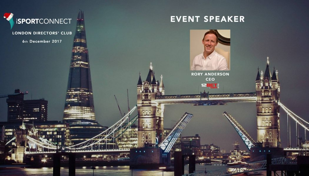 iSportconnect announces Rory Anderson as London Directors' Club guest speaker
